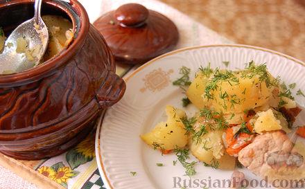 Рецепт Жаркое в горшочках по-домашнему