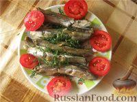 Фото к рецепту: Мойва, запечённая в фольге