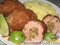 Фото к рецепту: Обыкновенные зразы с сухарями и яйцами