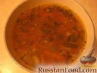 Фото к рецепту: Суп с чечевицей постный