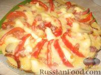 Фото к рецепту: Домашняя пицца на скорую руку
