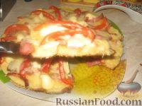 Фото приготовления рецепта: Домашняя пицца на скорую руку - шаг №8
