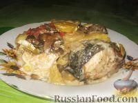 Фото к рецепту: Семга, запеченная с овощами