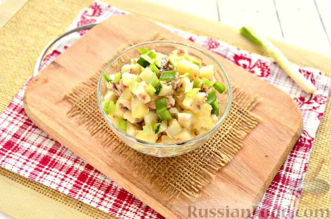рецепт салата со свежей скумбрией