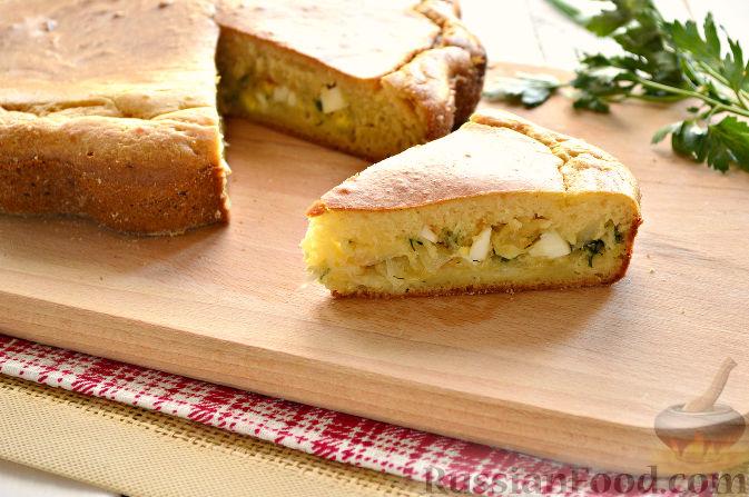 Заливные пироги на кефире с начинками рецепты с
