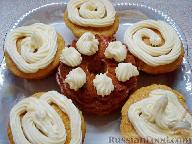 Кексы с кремом рецепт с пошагово