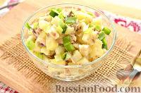 Фото к рецепту: Картофельный салат со скумбрией