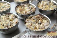 Фото приготовления рецепта: Жюльен из курицы с грибами - шаг №11