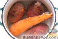 """Фото приготовления рецепта: Мясной салат """"Гренадер"""", с овощами и черносливом - шаг №2"""