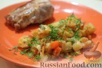 Фото к рецепту: Овощное рагу с луком-пореем и корнем сельдерея