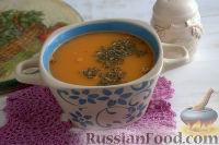 Фото к рецепту: Томатный суп-пюре из фасоли, с вермишелью