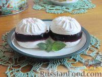 Фото к рецепту: Зефир с желе из черной смородины