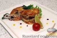 Фото к рецепту: Горбуша, запеченная с  грибами и сыром
