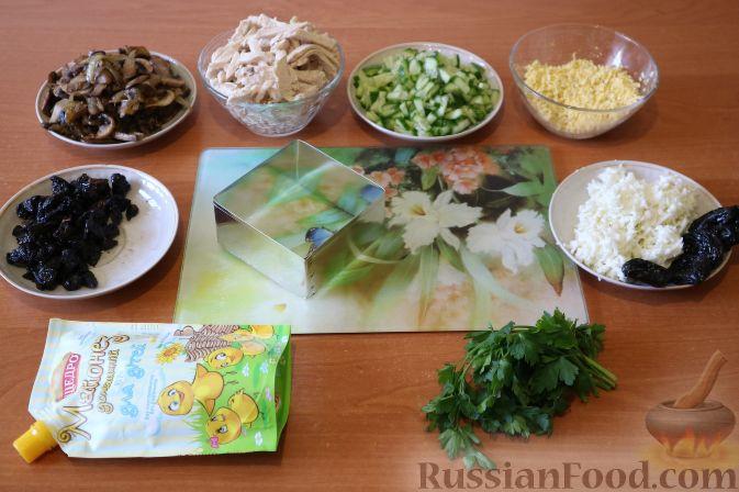 салат белая береза с курицей рецепт с фото