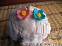 Фото к рецепту: Сахарно-белковая глазурь для пасхальных куличей