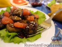 Фото к рецепту: Салат с печенью и грейпфрутом