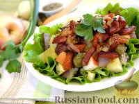 Фото к рецепту: Салат с картофелем и сельдью, по-цёблицки