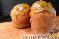 Фото к рецепту: Кулич с шафраном, курагой и абрикосовой глазурью