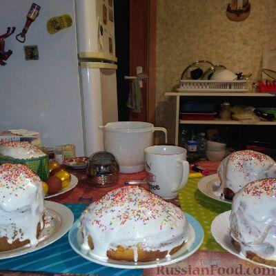 Фото приготовления рецепта: Пирог на кукурузной муке, с апельсинами в сахарном сиропе - шаг №9