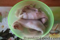 Фото приготовления рецепта: Салат из кальмаров, с огурцами и яблоками - шаг №5