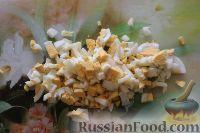 Фото приготовления рецепта: Салат из кальмаров, с огурцами и яблоками - шаг №10
