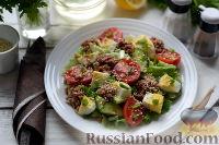 Фото к рецепту: Салат с тунцом и помидорами
