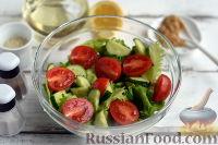 Фото приготовления рецепта: Салат с тунцом и помидорами - шаг №5