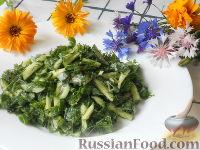 Фото к рецепту: Салат со свежими огурцами