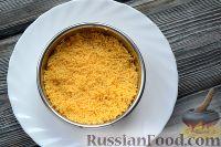 Фото приготовления рецепта: Слоеный салат из семги с сыром - шаг №3