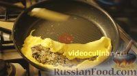Фото приготовления рецепта: Омлет с шампиньонами - шаг №11