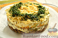 Фото к рецепту: Салат из куриной печени и моркови