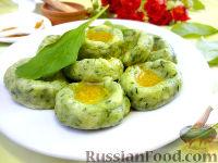 Фото к рецепту: Картофельные ньокки со шпинатом и укропом