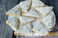 Фото приготовления рецепта: Канапе с семгой и сыром - шаг №5
