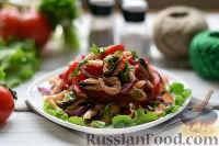 Фото к рецепту: Салат из морепродуктов и овощей