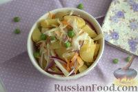 Фото к рецепту: Картофельный салат с квашеной капустой