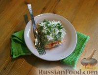 Фото к рецепту: Слоеный салат из овощей