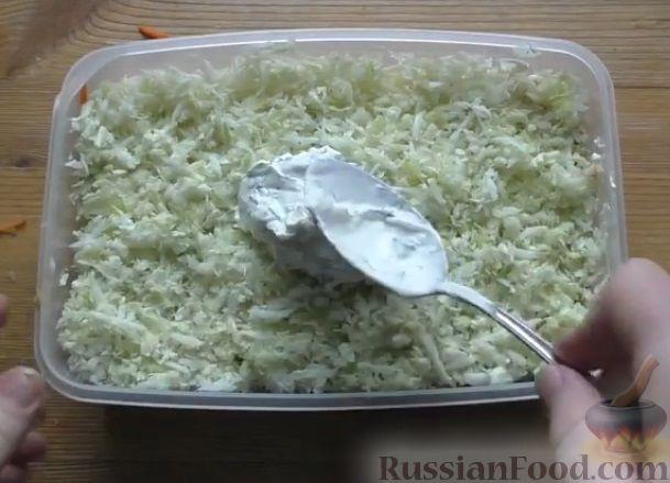 Фото приготовления рецепта: Слоеный салат из овощей - шаг №7