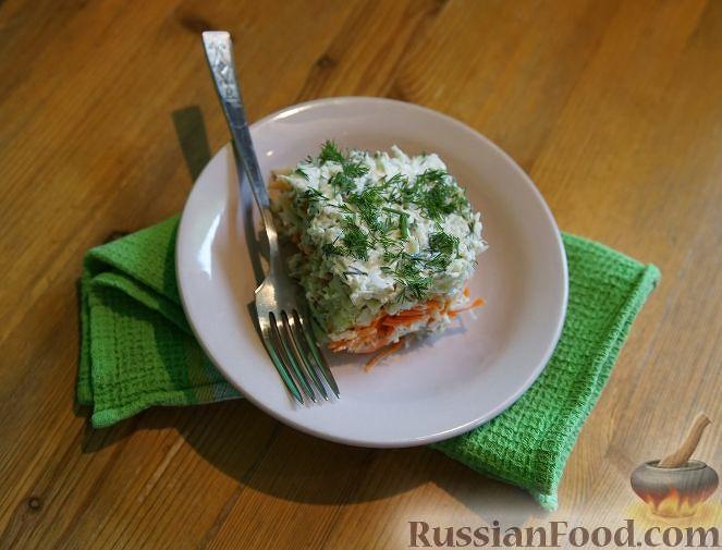 Фото приготовления рецепта: Слоеный салат из овощей - шаг №9