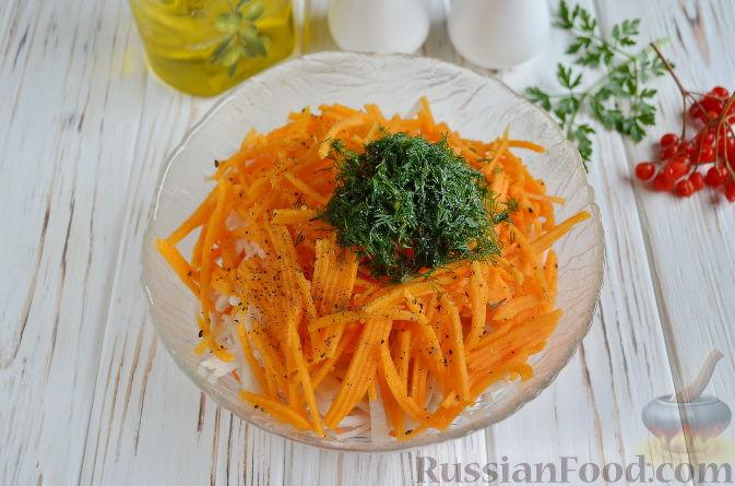 Фото приготовления рецепта: Салат из топинамбура, редьки, тыквы и моркови - шаг №6