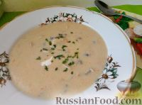 Фото к рецепту: Суп-пюре из свежих грибов