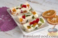 Фото к рецепту: Десерт из сгущенки и желе «Самоцветы»