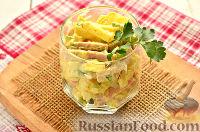 Фото к рецепту: Салат из картофеля и сосисок
