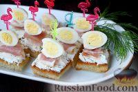 Фото к рецепту: Канапе с беконом и сливочным сыром