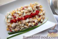 Фото к рецепту: Салат с куриной грудкой и сладким перцем