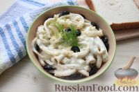 Фото к рецепту: Салат с кальмарами и яйцом