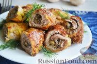Фото к рецепту: Свиные рулетики с грибами