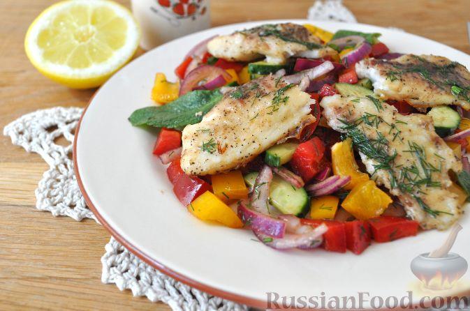 рецепт салат с рыбой