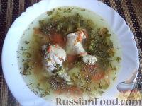 Фото к рецепту: Куриный суп с брокколи