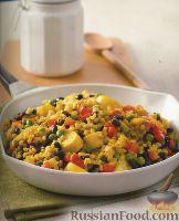 Фото к рецепту: Орзотто с овощами и фасолью