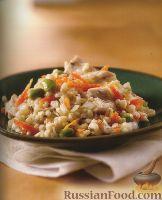 Фото к рецепту: Орзотто с курицей и сыром